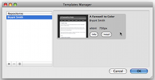 Templates Manager